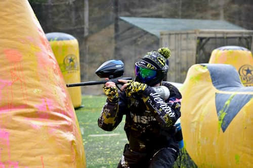 single person player at lax paintball