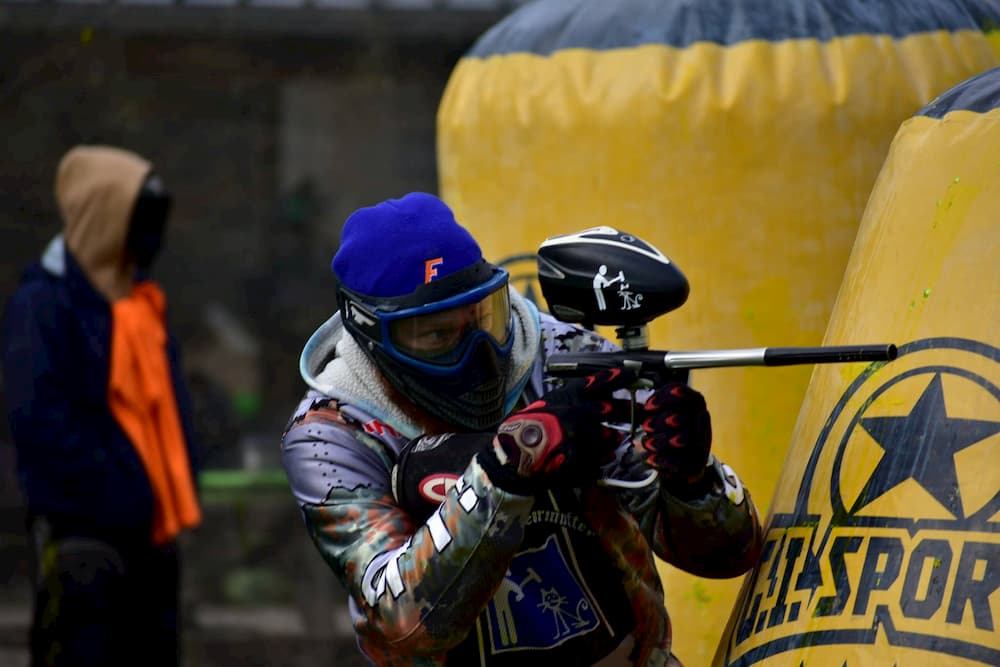 player at LAX Paintball